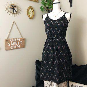 Loft chevron print cross strap casual dress 4